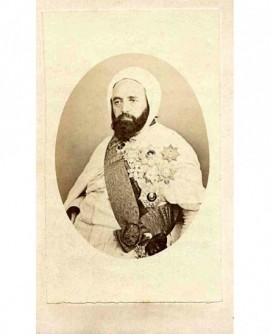 Portrait officiel de l'Emir Abd-el-kader avec ses décorations