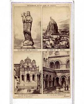 Souvenir de Notre Dame de France au Puy (4 gravures du Puy)