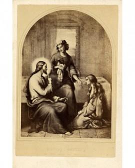 Peinture sulpicienne (Jésus avec Marthe et Marie)