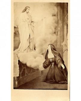 Peinture Marguerite-Marie Alacoque et le coeur de Jésus