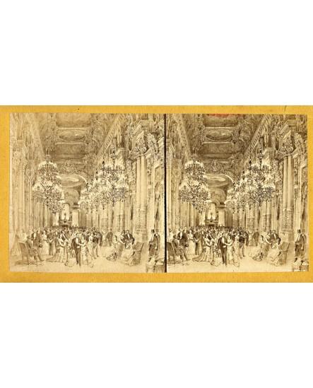 Salle de bal (des Tuileries?), vue stéréo