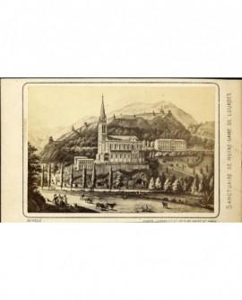 Sanctuaire de Notre-Dame de Lourdes ( gravure)