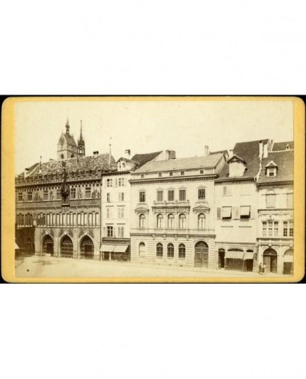 Vue de bâtiments d\'une ville (Strasbourg ?)