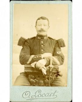 Militaire moustachu (caporal) du 106è chasseurs