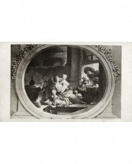 Peinture de Fragonard: l'heureuse fécondité