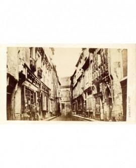 Vue d'une vieille rue du Mans