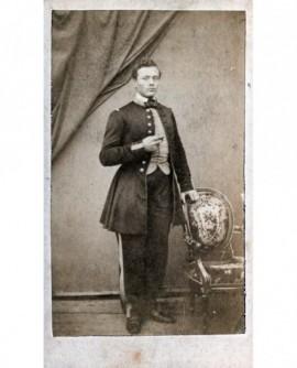 Homme en uniforme d'officier d'infanterie de marine. Paul Rheinart