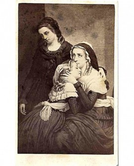 Peinture: les adieux de Marie-Antoinette à sa fille