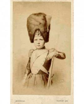 Le prince impérial, fils de Napoléon III, en grenadier