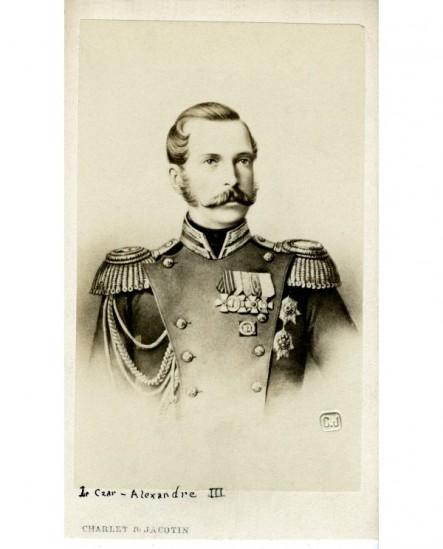 Empereur de Russie (il s'agit sans doute d'Alexandre II).