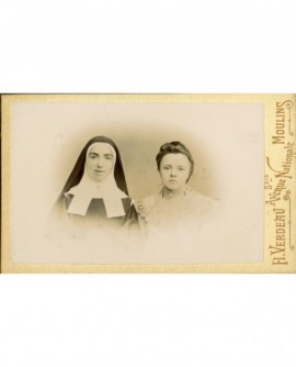 Religieuse et jeune fille (maîtresse et élève?)
