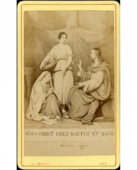 Scène d'un tableau Jésus-Christ chez Marthe et Marie