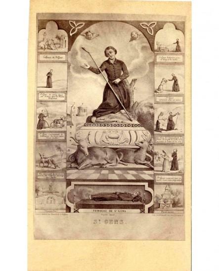 Image-souvenir de Saint Gens (scènes de sa vie et châsse)
