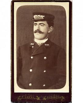 """Controleur en uniforme compagnie """"PLM"""", Paris-Lyon-Marseille"""