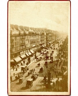 Boulevard Sébastopol à Paris (vers 1860)
