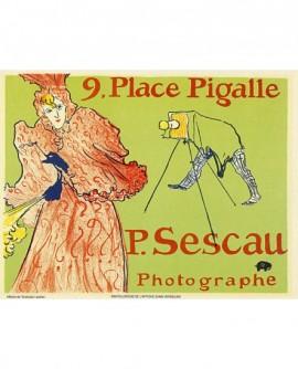 Carte publicitaire pour le photographe P.Sescau