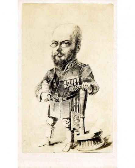 Caricature (charge) d'un médecin militaire