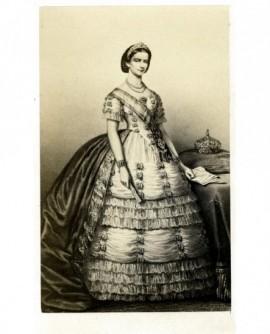 Portrait en pied de la reine d'Espagne