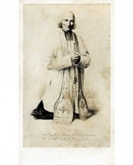 le curé d'Ars en prière, dessin de Louis Tanty
