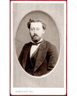 Portrait d'un homme barbu. A. Vimard