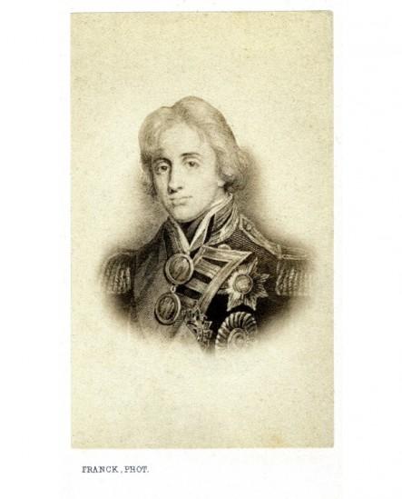 Portrait gravé d'un marin (Nelson)
