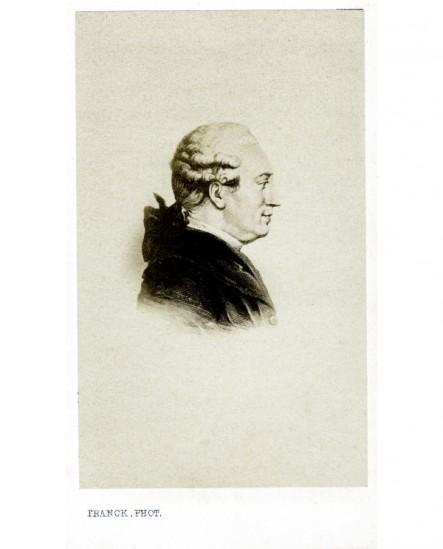 Portrait gravé d'un homme à perruque (Beaumarchais)