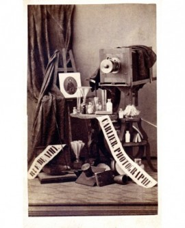 Carte publicitaire et matériel photo du photographe L. Carlier