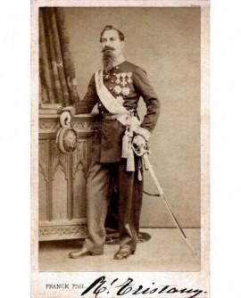 Militaire à impériale (officier général) décoré (Tristany)
